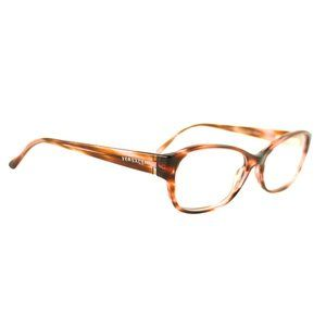 Versace Oval Style Clear Pink Havana Frame